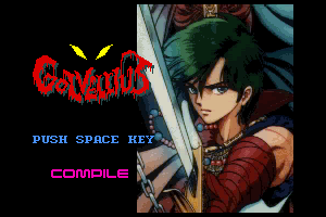 Golvellius MSX2/2+ - Title Screen on Disc Station 4
