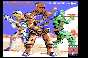 Laser Squad MSX1 loading screen by FRS