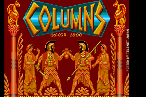 Columns 1st title screen remake by FRS