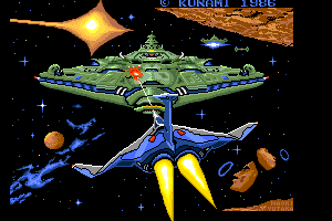 Gradius 1 presentation screen remake by FRS