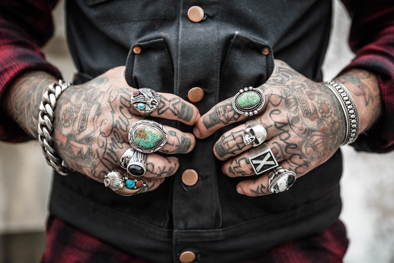 Image - hands tattoos rings accessories