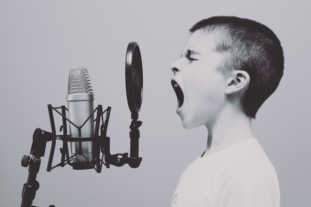 Image - microphone boy studio screaming