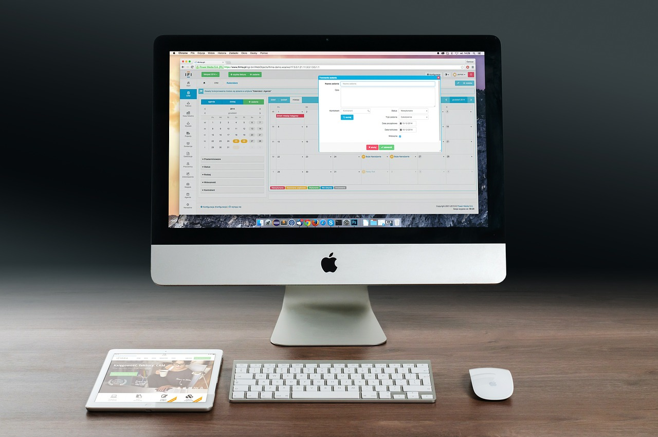 Image - apple imac ipad workplace