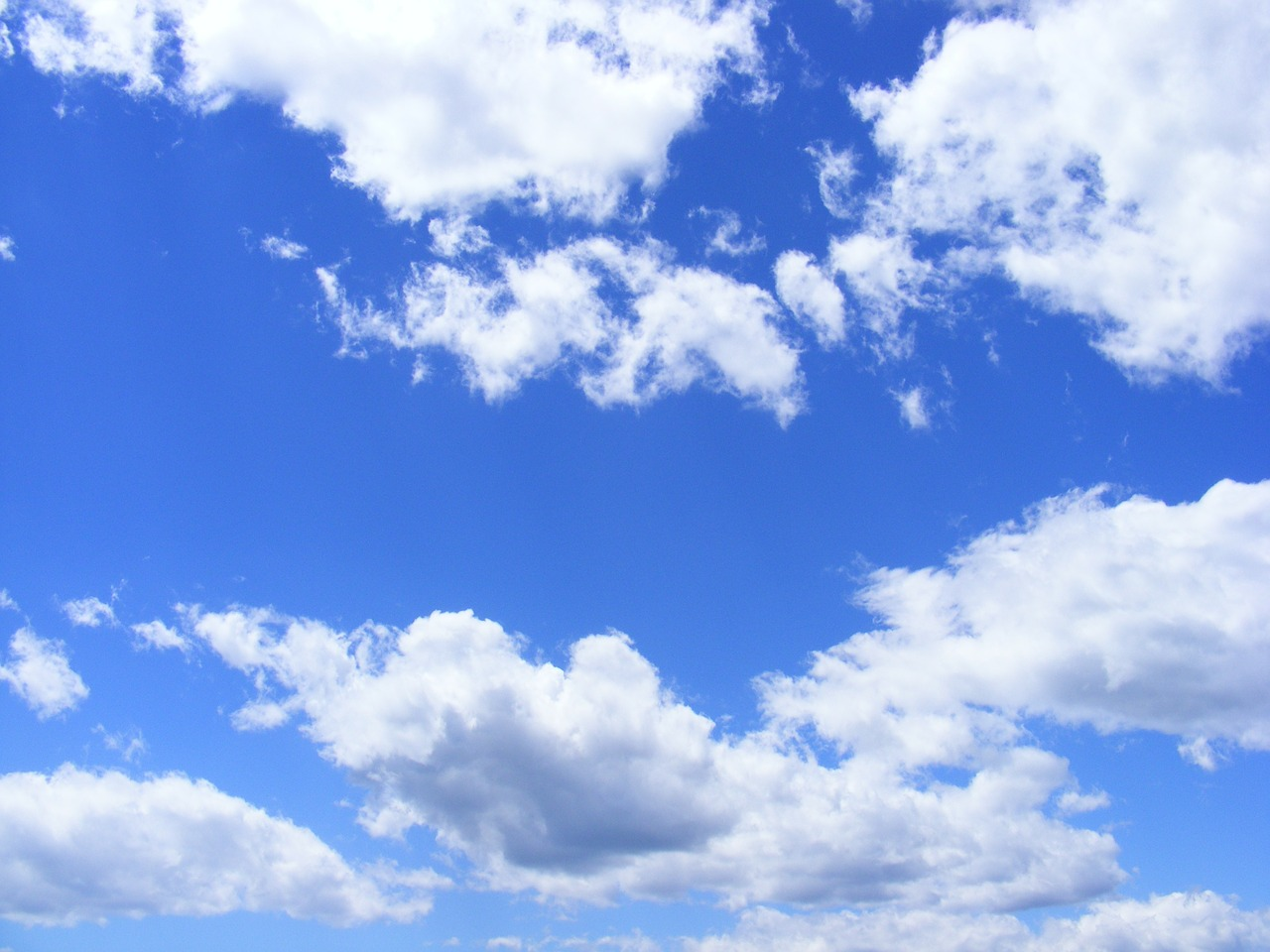 Image - blue clouds day fluffy sky summer
